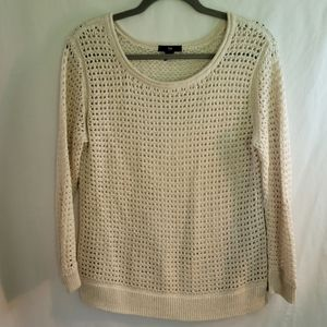 Cream and Gold Knit Sweater